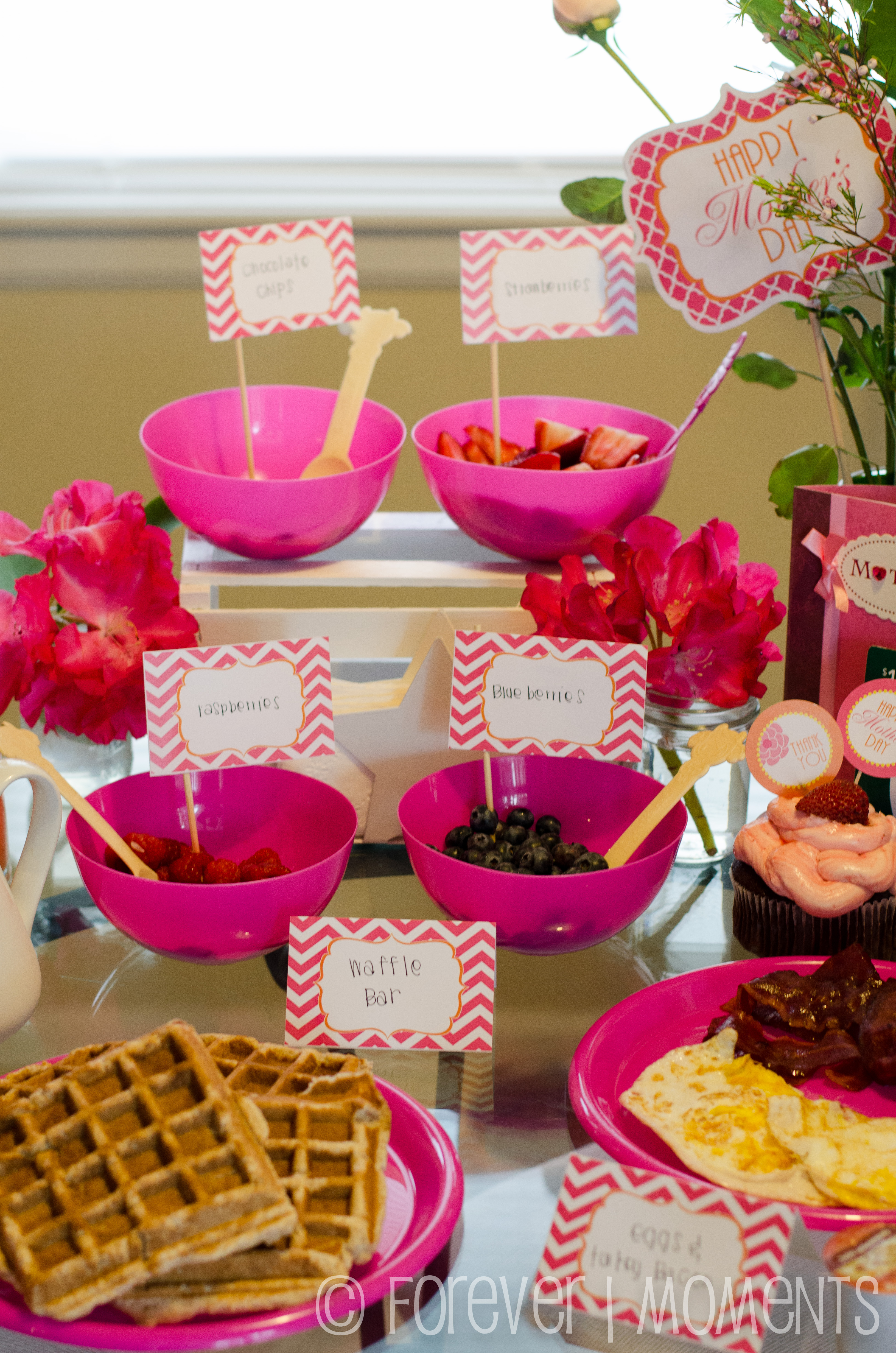 Mother\'s Day Brunch { Waffle Bar! } | Forever Moments Events
