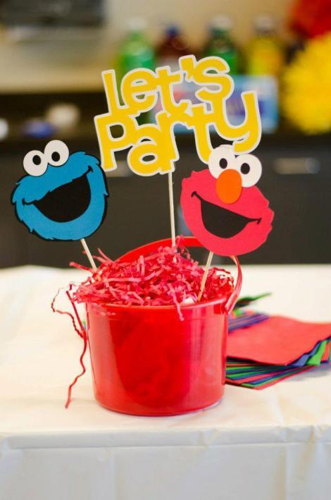 Sesame Street birthday decorations